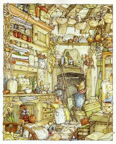Brambly Hedge - another favourite and so very cute:) Find my copy this Beatrix Potter print Beatrix Potter, Art And Illustration, Book Illustrations, Susan Wheeler, Brambly Hedge, Historia Natural, Hedges, Childrens Books, Book Art