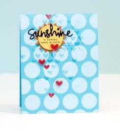 I Love this card by Jennifer McGuire using Simon Says Stamp Exclusives.  June 2014