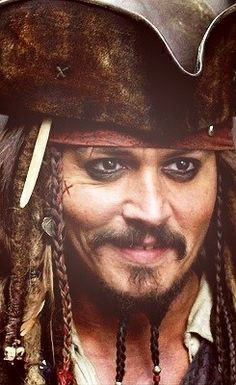 Captain Jack Johnny Depp (Dead Men Tell No Tales, filmed in Captain Jack Sparrow, On Stranger Tides, Here's Johnny, Johnny Depp Movies, Pirate Life, Marlon Brando, Many Faces, Pirates Of The Caribbean, Movie Characters