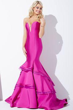 3f707a4b8 Vestido de sirena sin mangas en el color de la orquídea  Jovani 37099  Vestidos De
