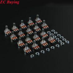 18Pcs Single Potentiometer Assortment Kit B500K B100K B50K B20K B10K B5K B2K B1K B1M 100K 10K 1K 20K 500K 50K 5K for Arduino #Affiliate