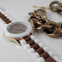 Reloj Bicolor Chocolate www.missbrumma.com