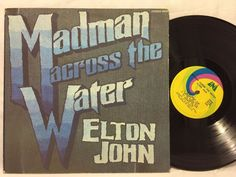 Elton John Madman Across The Water Original Release UNI w /Book LP Vinyl Record