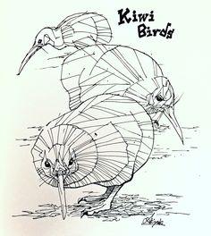 #illustration #art #drawing #artwork #kiwi #doodle #sketch #イラスト #アート #bird