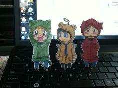 Sam, Dean, and Castiel Paper children by Artistic-Demon.deviantart.com on @deviantART