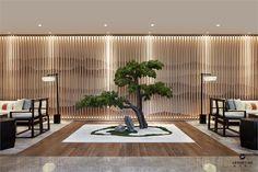Modern Chinese Interior, Asian Interior, Modern Asian, Contemporary Interior Design, Design Entrée, Lobby Design, Japan Design, Wall Design, House Design
