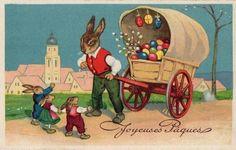 Cartes de Paques Easter Bun, Vintage Easter, Vintage Cards, Special Day, Illustration, Clip Art, Fun, Blog, Photos