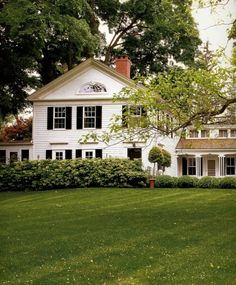 Country white home.