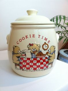 Cookie Time Cookie Jar made in USA by Treasure Craft