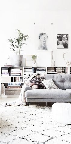 I love this muted palette for a living room. Cozy but still clean and chic.