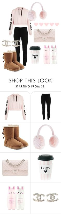 """""""Cozy shopping with Gabi"""" by emslielovesbunnies on Polyvore featuring Elie Tahari, UGG, Accessorize, Chanel, Miss Étoile and Tony Moly"""
