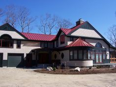 Drexel Metals Colonial Red Metal Roof with Tapered Panels