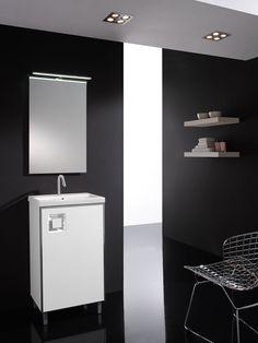 Mueble modelo Europa suspendido o con patas. Disponible en negro o blanco lacado