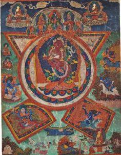 THANGKA OF VAJRAVARAHI DORJE PAKMO, TIBET, 18TH CENTURY Life Wheel, Chiba, Tibet, Deities, Buddhism, 18th Century, Bohemian Rug, Artworks, Antiques