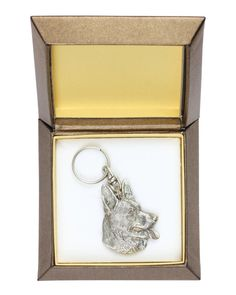NEW Dobermann dog keyring key holder in casket by ArtDogshopcenter Fox Terriers, Bull Terrier Dog, Rottweiler Dog, Corgi Dog, Pug, Chinese Shar Pei Dog, Irish Wolfhound Dogs, Lakeland Terrier, Pharaoh Hound