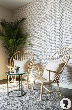 Peel and Stick Honeycomb Pattern Removable Wallpaper by Livettes