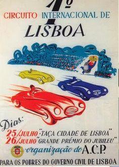 Circuito Internacional de Lisboa 1 race car poster