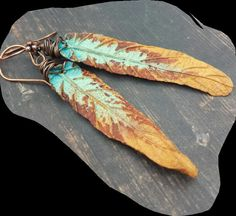 Polymer clay leaves by Helen Backhouse