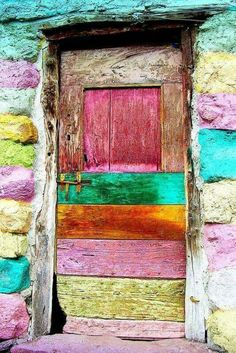 Ancient wood door with panels painted on Pinterest