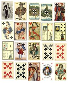 "Design my own deck of ""antique"" playing cards"
