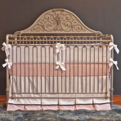 The modern Bratt Decor Chelsea Iron Lifetime Crib is a convertible crib that brings elegance to any nursery.