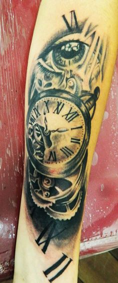 relogio tattoo clock tattoo