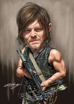 Norman Reedus, as Daryl Dixon on The Walking Dead