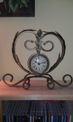 Vintage Wrought Iron Clock by SunAndRainbowVintage on Etsy