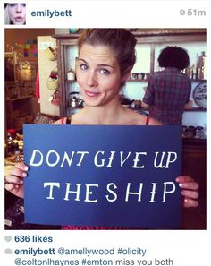 Don't give up! Arrow- Olicity!