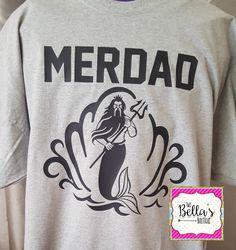Merdad shirt Mermaid Dad shirt Mermaid by TwoBellasBoutique