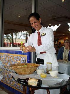 Server Making 1905 Salad Columbia Restaurant St. Armand's Circle