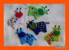 Glassfussion - Ornament - Animals - Cows