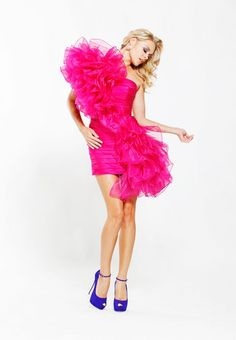SCALA By Ashley Lauren SA4003 Ruffled Dress Fuchsia $495  http://hollyrotic.mybigcommerce.com/scala-by-ashley-lauren-sa4003-ruffled-dress-fuchsia-495/