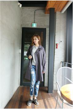 Long Time No See Coat   Korean Fashion
