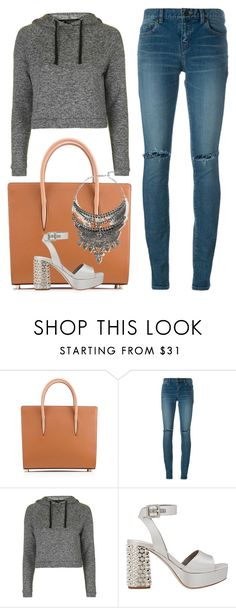 """""""Casual"""" by cherieaustin ❤ liked on Polyvore featuring Christian Louboutin, Yves Saint Laurent, Topshop, Miu Miu and Jagger"""