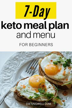 This keto meal plan and menu is ideal for both keto beginners and established veterans. Easy Ketogenic Meal Plan, Low Carb Meal Plan, Diet Meal Plans, Ketogenic Recipes, Diet Recipes, Keto Foods, Diet Tips, Fall Recipes, Meal Prep