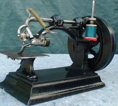 This amazingly early Gibbs sewing machine is one of only a handful that exist pre-patent around 1856.