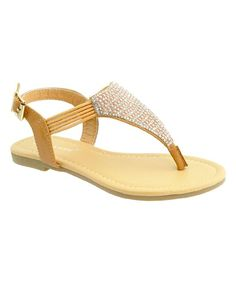 Tan Embellished Jade Sandal