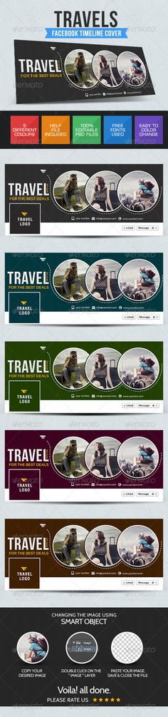 Travel Facebook Cover — Photoshop PSD #social media #web banner • Available here → https://graphicriver.net/item/travel-facebook-cover/7688680?ref=pxcr