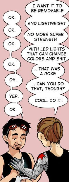 Oh God, this is so adorable, like really. Bucky wants LED lights that changes colours.