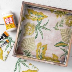 Napkin Decoupage DIY Idea - Botanical Box - Project | Plaid Online