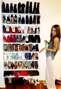 Adjustable Shelves DIY Shoe Closet Would Be Awesome To Put Doors
