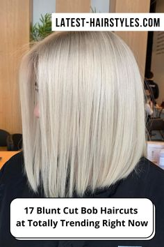 This is it ladies! The cutest blunt cut bob haircuts are right here. Click here to see them before your next haircut! (Photo credit IG ilhankaymakofficial) Blunt Bob Haircuts, Blunt Cuts, Latest Hairstyles, Face Shapes, Short Hair Cuts, Photo Credit, Lady, Hair Styles, Cute