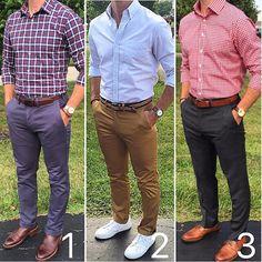 """352 Me gusta, 29 comentarios - #ModaParaLosHombres (@modaparaloshombres) en Instagram: """"¡Lunes! ¡Inicio de semana! ¿Cuál look usarías? ••• 1, 2 o 3 ❓❓❓"""""""
