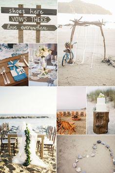 Inspirational Wedding Ideas #216: Rustic Beach Wedding - http://www.diyweddingsmag.com/inspirational-wedding-ideas-216-rustic-beach-wedding/