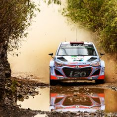 2015 WRC 맥시코 랠리물살을 가르고 숲 길을 헤치며 거침없이 달린다! Mexico Rally Hyundai i20 WRC Action Race roughly across the trees and water current!