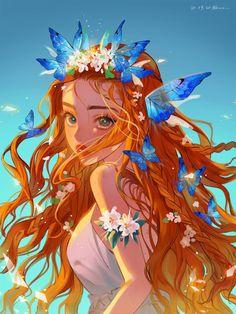 Anime Art Girl, Manga Art, Anime Girl Drawings, Pretty Art, Cute Art, Arte Do Kawaii, Digital Art Girl, Cartoon Art Styles, Anime Artwork