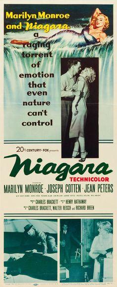 """Niagara"". Starring Marilyn Monroe and Joseph Cotten. US Insert Movie Poster, 1953."