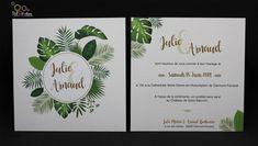 faire-part mariage carré tropical