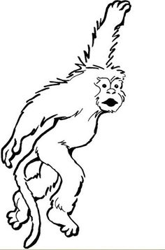 monkey printables Hanging Monkey Coloring Page Free Printable
